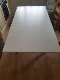 Ikea extendable dining table (white)