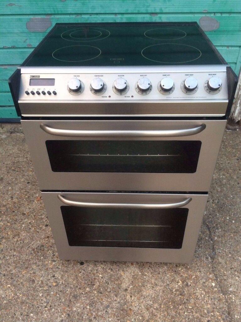 £129.69 Zanussi sls/Black ceramic electric cooker+60cm+3 months warranty for £129.69