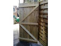 Wooden side garden gate