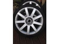 """Audi RSTT 18"""" Alloy Wheels VW Mk5/BORA"""
