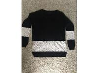 French connection knit and lace sweater