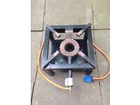 Gas burner stove hub hob camping outdoors cooking can deliver.