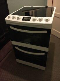 Zanussi ZCV48300WA 55cm Electric Ceramic Double Oven Cooker ** MUST GO