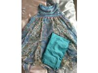 Monsoon dress top a d matching leggings age 8