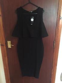 Black dress boohoo size 10 *new*