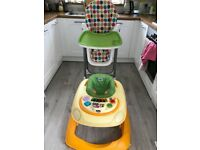 Baby chair and walker for sale