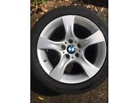 "Genuine BMW Alloys set 17"" with good tyres"