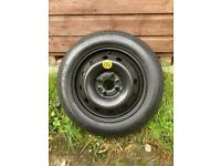 Spare temporary car wheel and tyre, 14 inches, unused