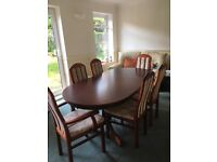 Extending Oval Dining Table With 6 Chairs