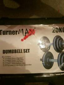 Turnermax 20kg cast iron dumbbell set