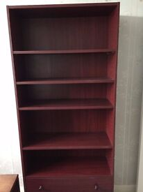 REDUCED, HOUSE CLEARANCE, VENEER WOODEN SHELVING UNIT