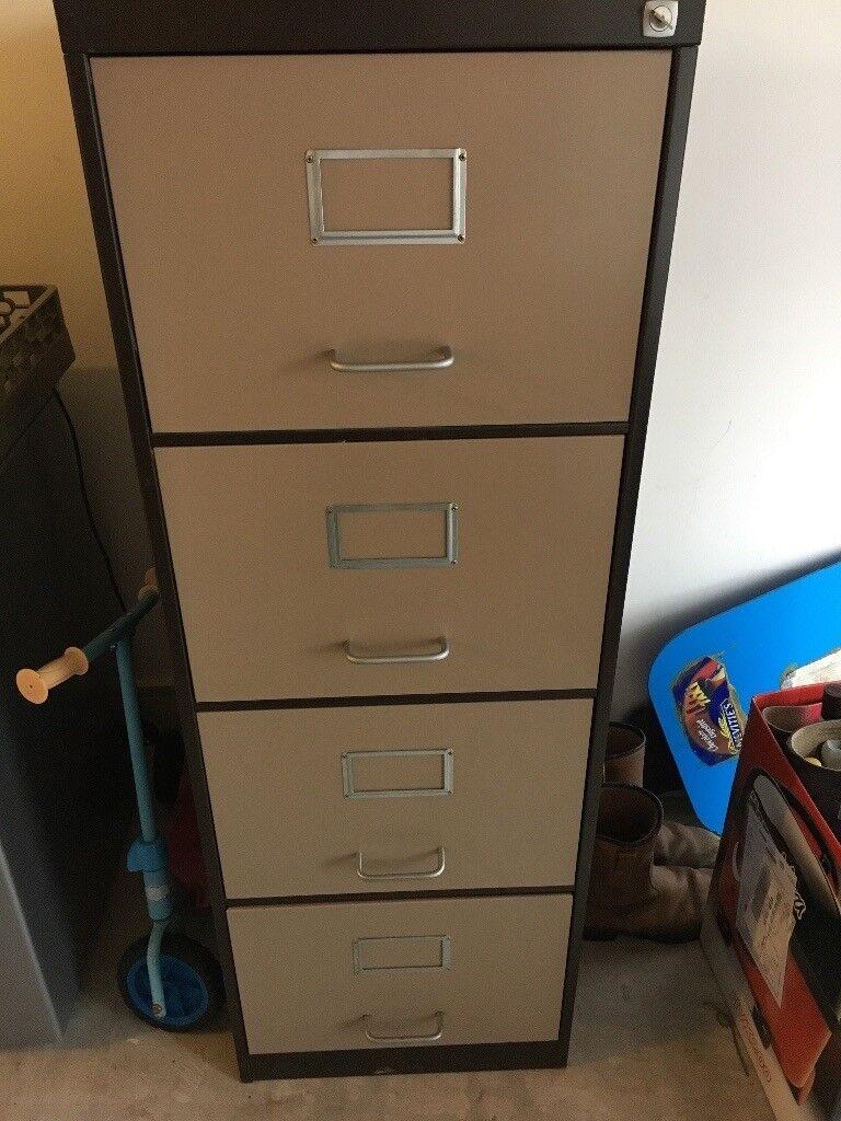 Metal 4 Drawer Filing Cabinet With Locking Key