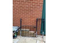 Iron gate 72 x 80cm + 40cm wide