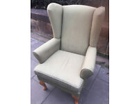 Wingback armchair - free local delivery...