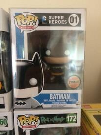 Batman metallic 01 chase funko pop