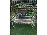 Garden vintage metal bench