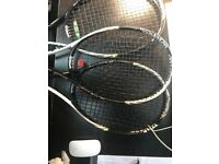 Wilson BLX tennis Rackets lite Juniors/Seniors newly strung in good shape