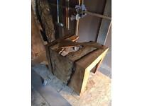 Spalted beech coffee table with bog pine butterfly joint