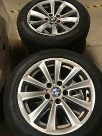 BMW F10 5 SERIES 17 INCH ALLOYS NEW TYRES