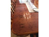 Wade Golden Yew table with 8 chairs - cost £14,0000