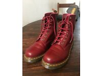 Doc Martin Boots in Cherry Red, Size 8
