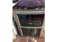 Stainless steel Electrolux 60cm gas cooker grill & double ovens good condition with guarantee
