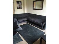 Black corner sofa IMMACULATE CONDITION