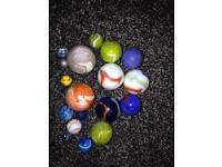 Big and small marbles