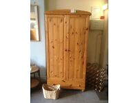 Pine wardrobe with drawer