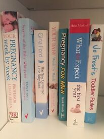 Selection of pregnancy and baby books