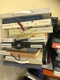Fabric & wallpaper sample books