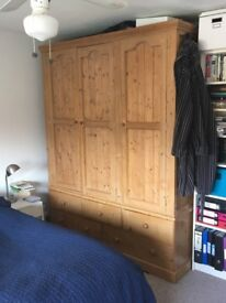 Extra large pine wardrobe for sale