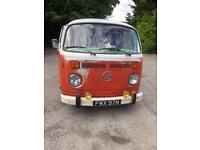 Vw T2 baywindow camper 1974