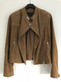 All Saints Women's Suede Darrel Jacket - Size 10