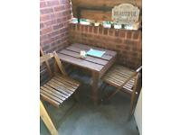 Table & 2 matching foldable chairs available