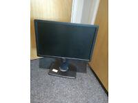 LED-backlit 19'' LCD Monitor DVI VGA - Black