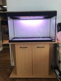 Fluval 125 Roma fish tank with stand
