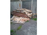 FREE Fire wood ideal for kids bonfire night must go free and must collect. Wood is chopped