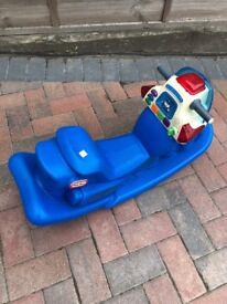 Plastic police rocking chair