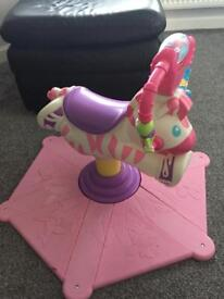 Fisher Price Bounce & Spin Zebra (pink)