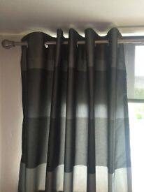 Next faux silk curtains