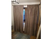 Laura Ashley wooden pole with mink chenille curtains
