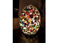Hand Made Mosaic Glass Lamp (Brand New)