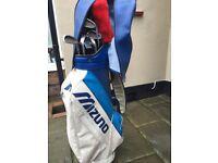 Set of Impala Golf Clubs and Mizuno Golf Bag