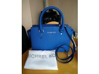 Michael Kors MK Selma Medium Saffiano Leather Satchel (Electric Blue) - BRAND NEW