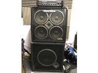 HARTKE HA3000 bass stack with 2 cabs