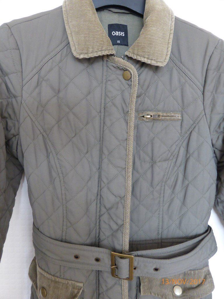 Oasis Womens quilted jacket. Size XS. Excellent condition.