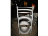White Curved Towel Rail
