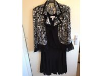 Black and white Joseph Ribhoff jacket size 20 top 18 and skirt 18