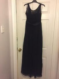 Long black evening dress size 14 uk
